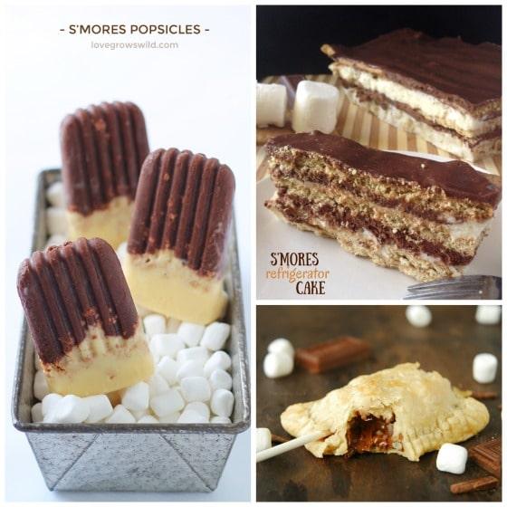 smores popsicles smores refrigerator cake smores pie pops