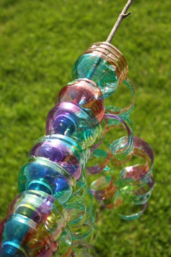 wind chime from water bottles