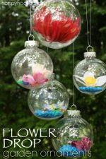 How to Make Gorgeous Flower Drop Garden Ornaments