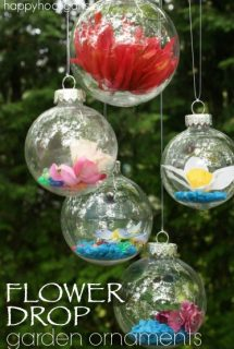 DIY Flower Drop Garden Ornaments