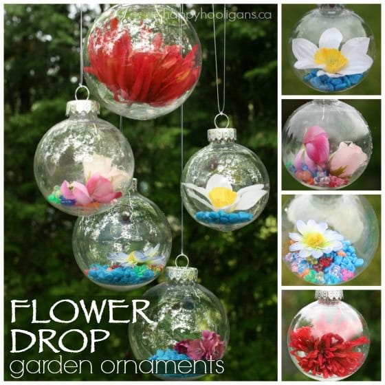 Flower Drop Garden Ornaments A Gorgeous Craft For Kids