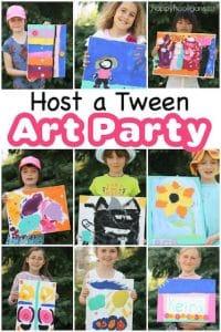 Host a Tweener Girl Art Party copy