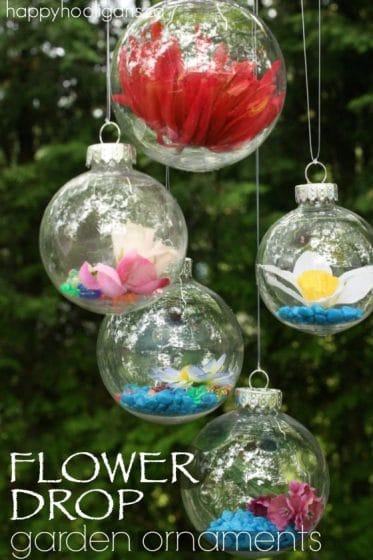 How to Make Flower Drop Garden Ornaments