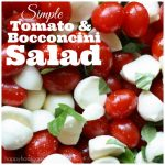 Tomato and Bocconcini Salad for Canada Day