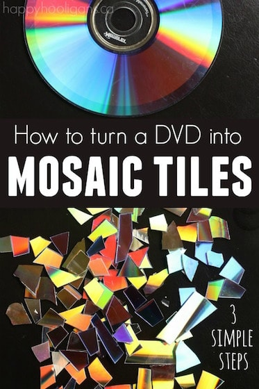 TUrn a DVD into mosaic tiles