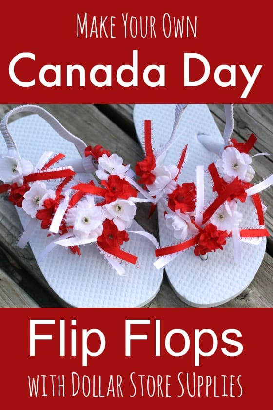 canada day flip flops