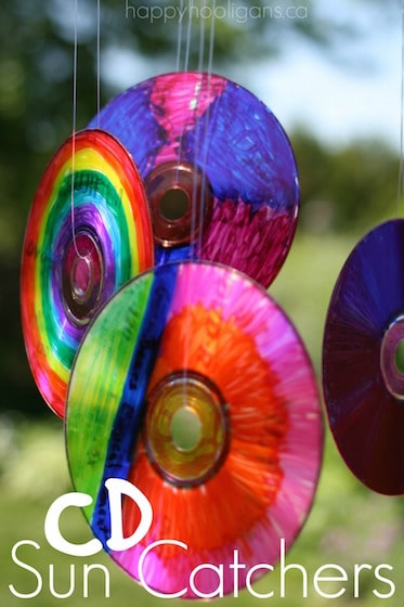 colourful cd sun catchers
