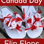 make your own canada day flip flops copy