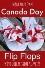 Decorated Flip Flops for Canada Day
