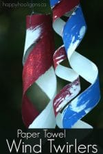 Easy Patriotic Wind Twirlers {from Paper Towel Rolls}