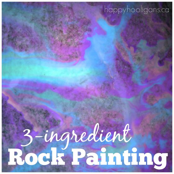 3-ingredient rock painting