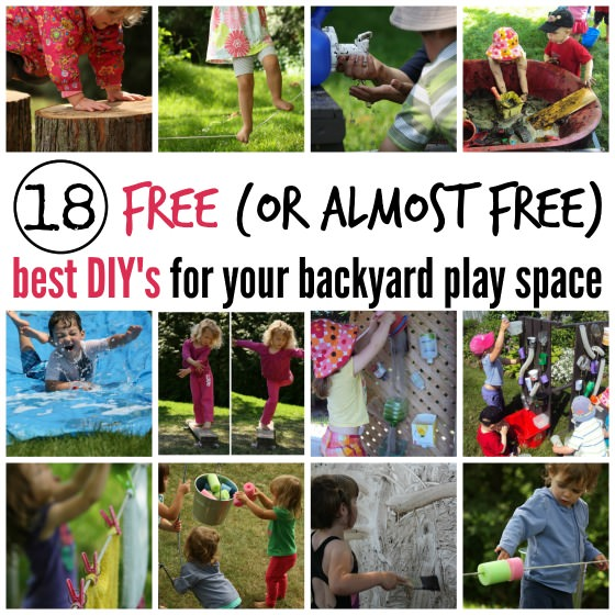 best diys for a backyard play space