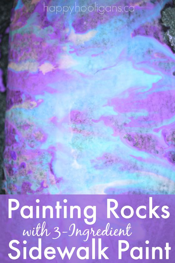 painting rocks with 3-ingredient sidewalk paint