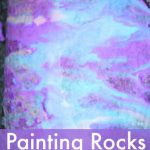 rock painting with sidewalk paint