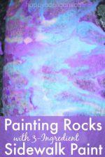Rock Painting with 3-Ingredients – Fun Outdoor Art for Preschoolers