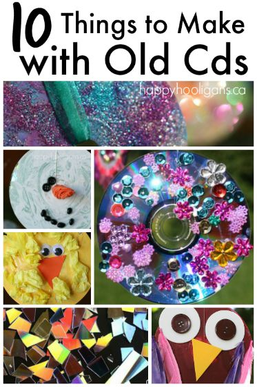 10 Terrific Things To Make With Old Cds And Dvds Happy Hooligans