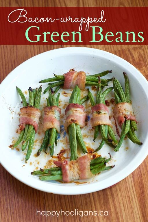 Recipe for Bacon Wrapped Green Beans - Happy Hooligans