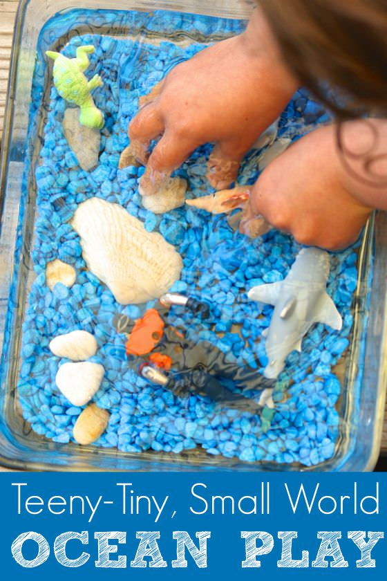 Small World Ocean Sensory Bin