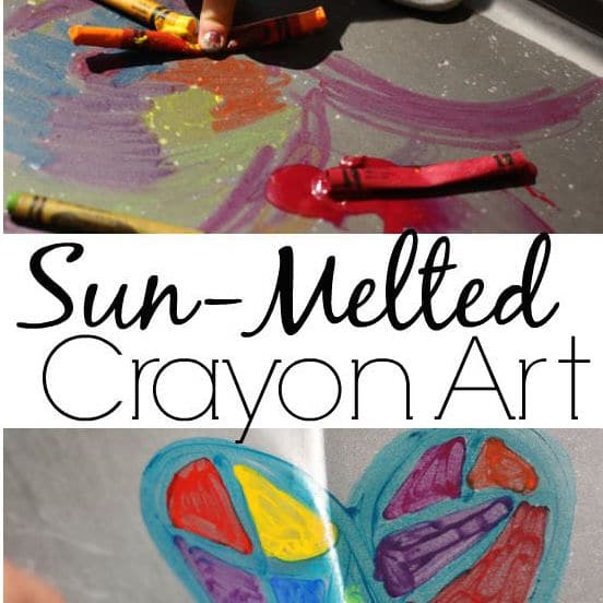 Sun Melted Crayon Activity