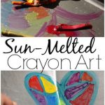 Sun Melted Crayon Art for Preschoolers