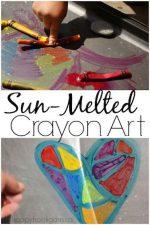Sun-Melted Crayon Art Activity