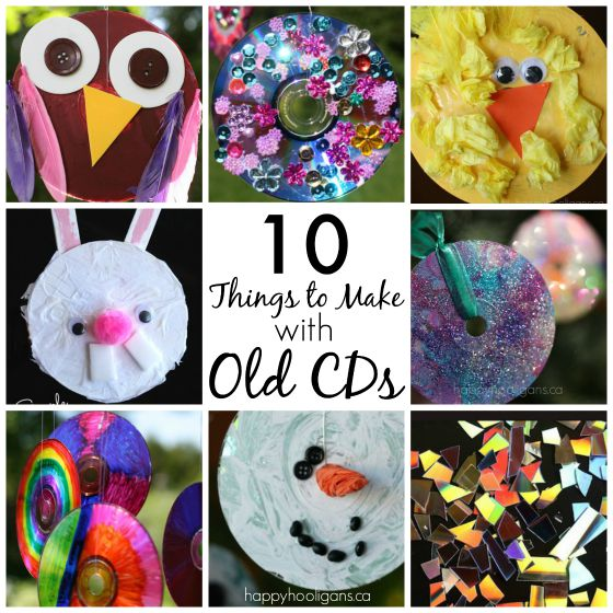 10 Terrific Things To Make With Old Cds And Dvds Happy
