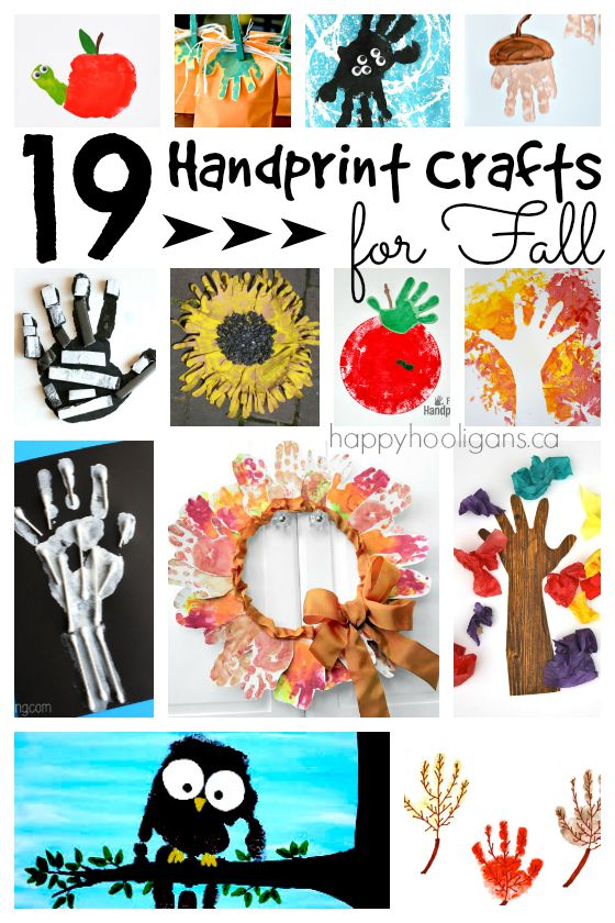 19 Adorable Handprint Crafts For Fall Happy Hooligans