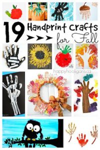 19 Hand Print Crafts for Fall & Halloween