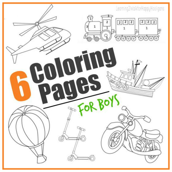 Transportation Colouring Pages For Boys