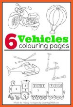 Printable Transportation Colouring Pages for Kids Who Love Vehicles