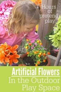 Artificial Flowers in the Outdoor Play Space - Happy Hooligans  copy