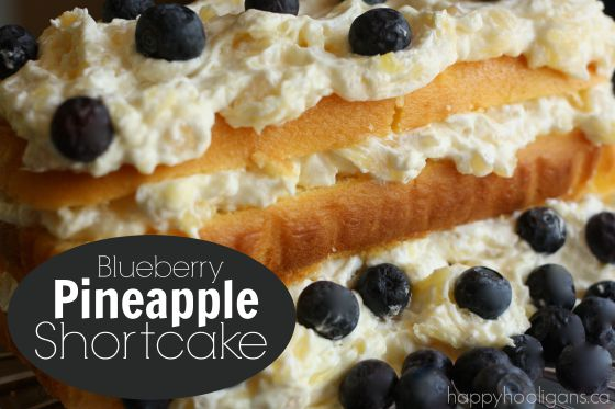 Easy Blueberry Pineapple Shortcake