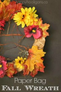 Paper Bag Fall Wreath