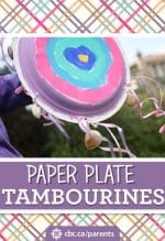 Paper Plate Tambourines for Kids to Make and Play