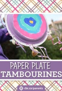 Paper Plate Tambourines for Kids to Make