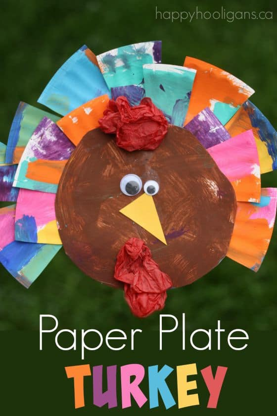 6 Turkey Crafts For Toddlers And Preschoolers Happy Hooligans