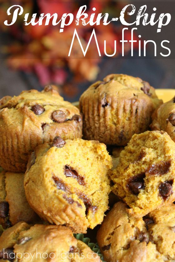 Pumpkin Chocolate Chip Muffins - Happy Hooligans