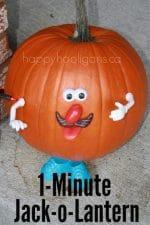 Last Minute Pumpkin Decorating Idea – Quick and Easy Jack-o-Lantern