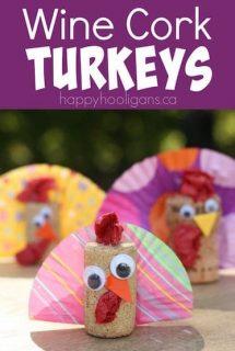 Wine Cork Turkey Decoration for Kids to Make