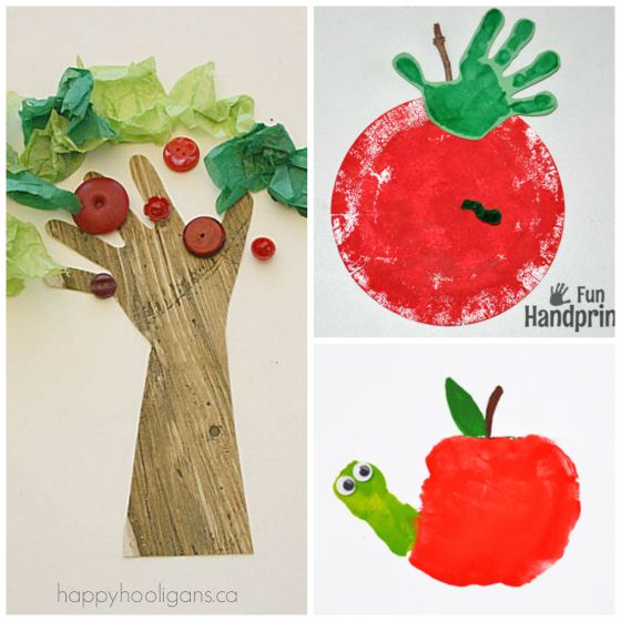 handprint apple crafts