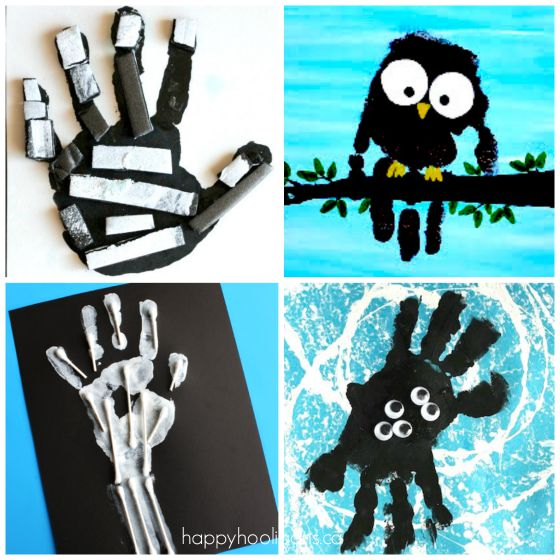 halloween handprint and footprint art 19 easy and adorable handprint crafts for fall happy 6671