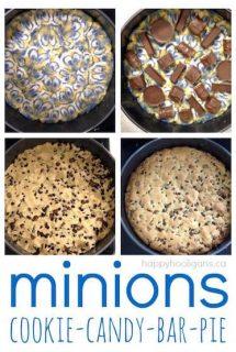 minions cookie candy bar pie dessert recipe