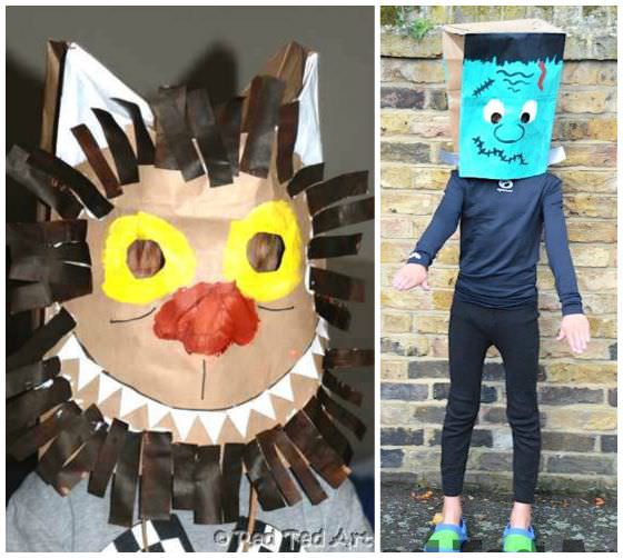 paper bag halloween masks copy