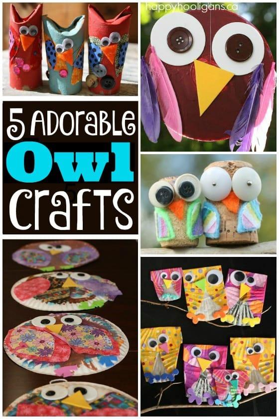 5 Owl Crafts for Kids to Make - Happy Hooligans