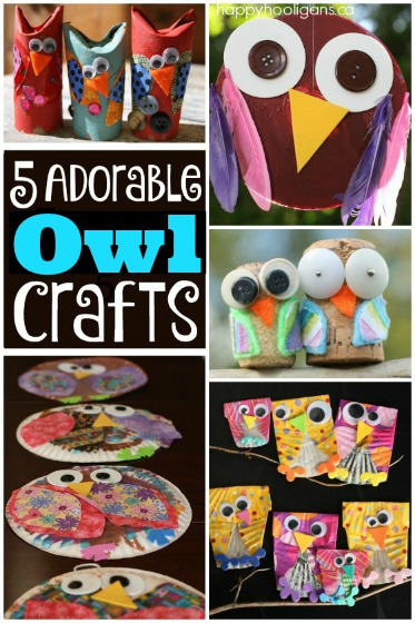 5 Adorable Owl Crafts for Kids to Make