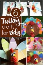 6 Easy, Adorable Turkey Crafts for Toddlers and Preschoolers
