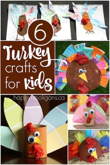 6 Easy Thanksgiving Turkey Crafts for Toddlers and Preschoolers