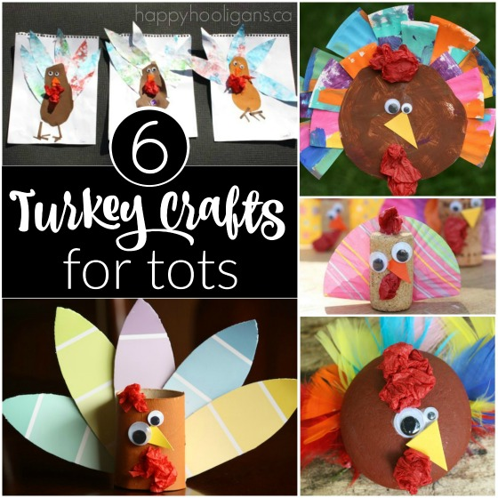 6 turkey crafts for tots