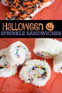 Halloween sprinkle sandwiches for Kids - Happy Hooligans