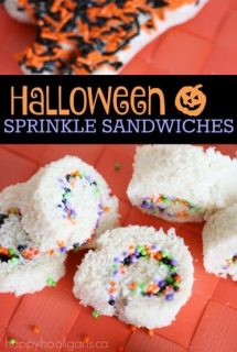 Halloween Sprinkle Sandwiches